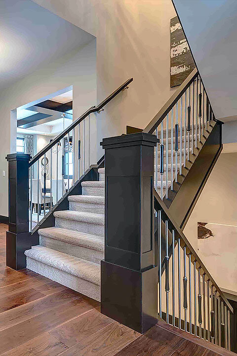 Front Foyer | Custom Metal Spindle